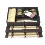 Bamboo candle gift set 2 images