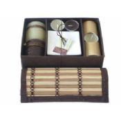 Bamboo candle gift set 3 images