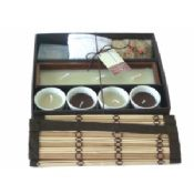 Bamboo candle gift set 4 images