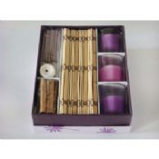 Romantic purple candle incense set images