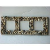 Real Stone Shabby Chic Triple Photo Frame images
