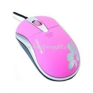 Optical Mouse With Flower Printing