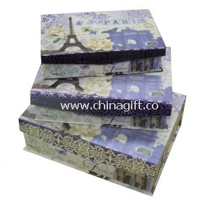 Art Paper Keepsake Gift Boxes Flap Magnet in Set