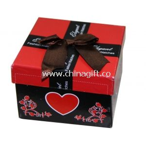 Fashion Custom Paper Keepsake Gift Boxes For Promotional With Ribbon Butterfly Bow