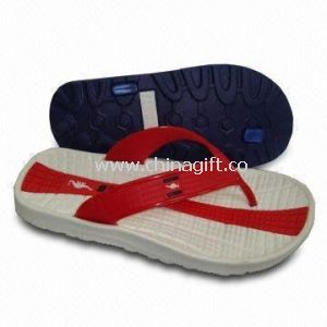 Fashionable Mens Slippers with PVC Upper/Outsole