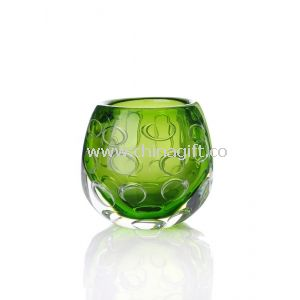 Green Colored Glass Vase