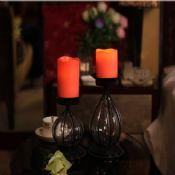 Battery operated led pillar candles images