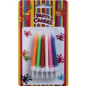 Colorful Birthday Party Candles and Holders images