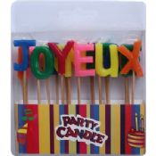 Colorful Letter Candles Party Candles images