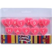 Pink Heart Shaped Letter Birthday Candles images