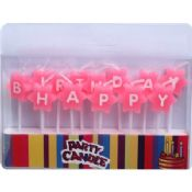 Pink Birthday Letter Candles images