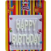 White Happy Birthday Candles images