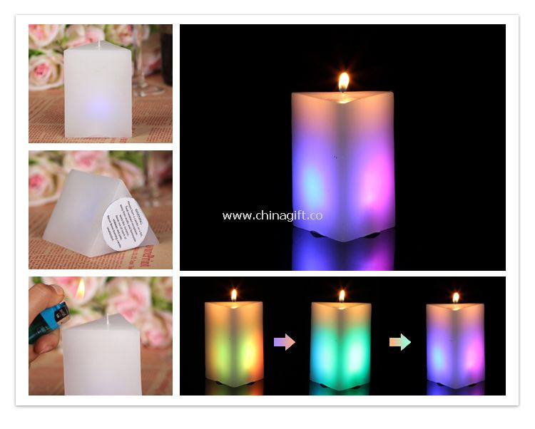 LED pillar shape candles