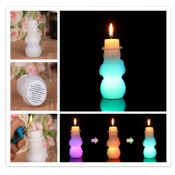LED Snowman candles images