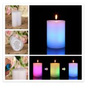Red pink heart pillar candle images