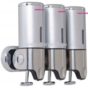 Triple Soap Handwash Dispenser Stainless With For 5 Star Hotel
