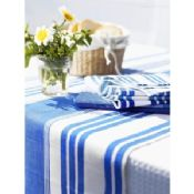 Table Setting Napkin , Blue And White Stripe , Placemat For Hotels images