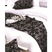 Woven Black Jacquard Luxury Hotel Bed Linen images