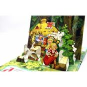 Case Bound Colorful Story Pop Up Children Book Printing With Diecut Book images