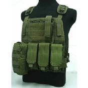 OD Green Tactical 100D / 600D Vests For Military Tactical Gear images