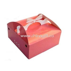 Foldable Eco-friendly Custom Printed Recycled Paper Boxes With Handle
