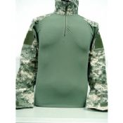 Green Long Thick Mens Cargo Shirt images