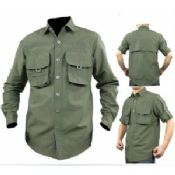 Military Tactical Combat Army Green Mens Cargo Shirt images