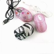Customized wired and wireless diamond mouse images