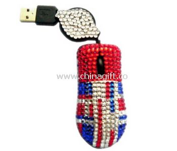 Retractable bling mouse