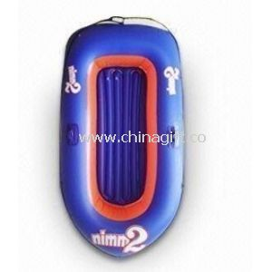 Blue Double PVC Inflatable Boat With Customized Logo