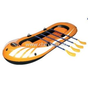 Eco Friendly 4 Person Pvc Inflatable Boat Set With 4 Set Oars