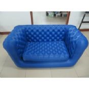 Double Seat Blue Inflatable Sofa Chair images