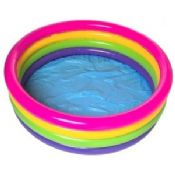 Rainbow PVC Inflatable Swimming Pools With Custom Logo images