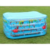 Rectangle Inflatable Swimming Pools Four Layer For Kids Playing images