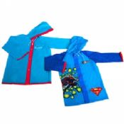 Blue Hooded PVC Rain Coat images