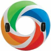 Colorful Inflatable Swimming Rings For Adults With Armrest EN71 ISO images