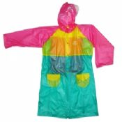 Lovely Ladies Pvc Raincoat With Hood images
