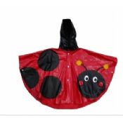 Shiny Hooded PVC Rain Coats For Girls images