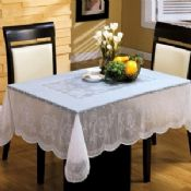 White PVC Table Cloth Easy Clean images