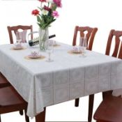 White PVC Table Cloth Wipe Clean images