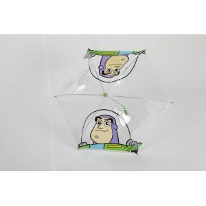 16 Inch Kids Rain Umbrellas Clear PVC