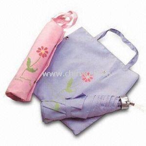 3-fold Bag Umbrellas with Plastic Handle