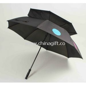 Deluxe Printed Double Canopy Golf Umbrella