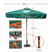 6 Ft Solar Guard Deluxe Dual Canopy Heavy Duty Beach Umbrella images