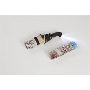 Windproof LED Lighted Umbrella Automatic 3 Folding