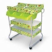 Baby Changing Bath Tub with Lock Wheels Stand images