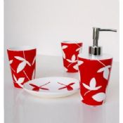 Red Bath accessories images