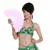 Belly Dance Wear for Performance Turkey Feather Fans images
