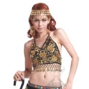 Belly Dancing Tops With Shining Flower Pattern images