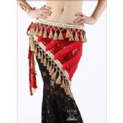 Mystiska Tribal stil Belly Dance Hip halsdukar med lilla diamant images